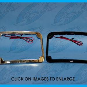 HARDDRIVE LICENSE PLATE FRAME CURVED VERTICAL CATEYE LED P28-6145NU MC Harley-Da