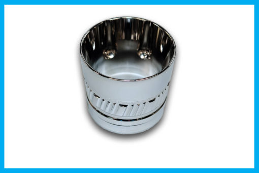 Diamond cut exhaust tip for Harley Up Yours performance exhaust