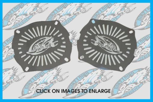 Dirty Bird fairing speaker grills for Street Glide & Electra Glide