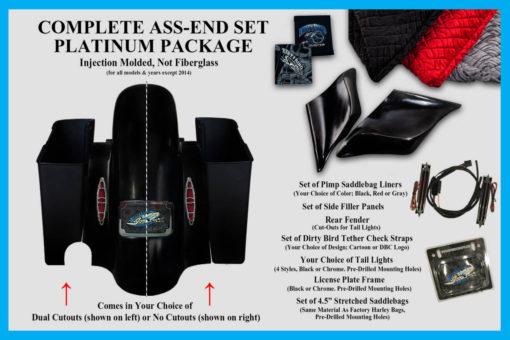 Harley Davidson bagger rear end kit